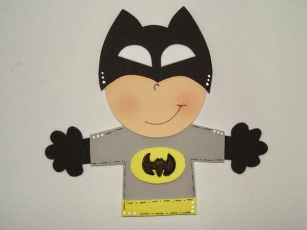 Adesivo De Alto Impacto Bianco ~ Batman em EVA para festa infantil passo a passo Revista Artesanato
