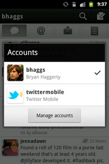 twitter for Android multiple account