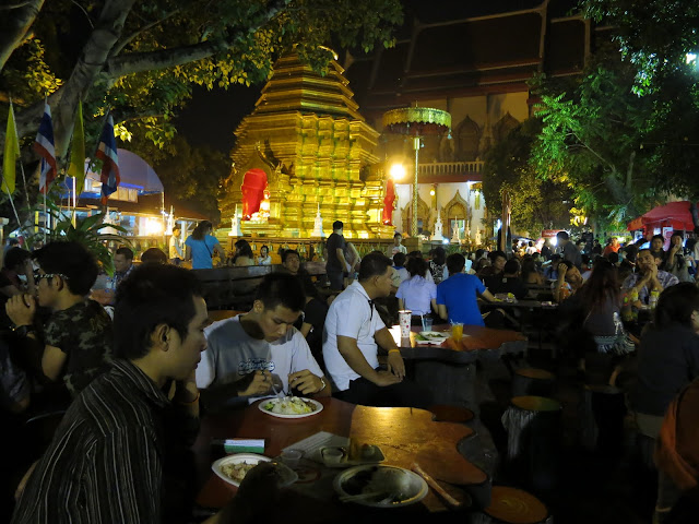 A food court in one of the city's many temples.