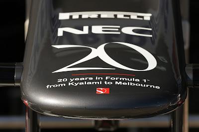 носовой обтекатель Sauber к 20-летию команды на Гран-при Австралии 2013