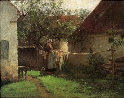 J. Ottis Adams - Wash Day, Bavaria