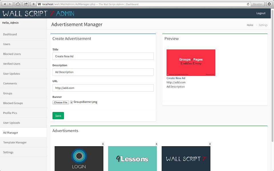 Social Network Script User Management