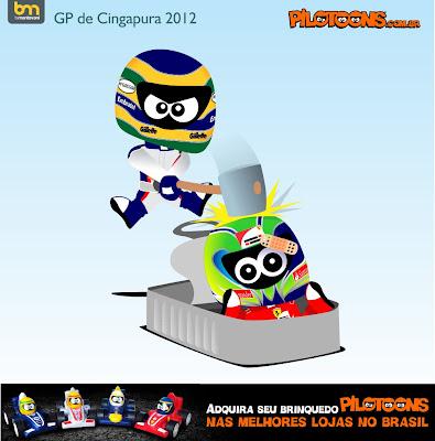 pilotoons Бруно Сенна и Фелипе Масса на Гран-при Сингапура 2012