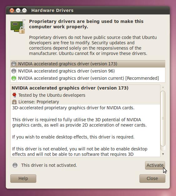 ubuntu ati graphic card driver