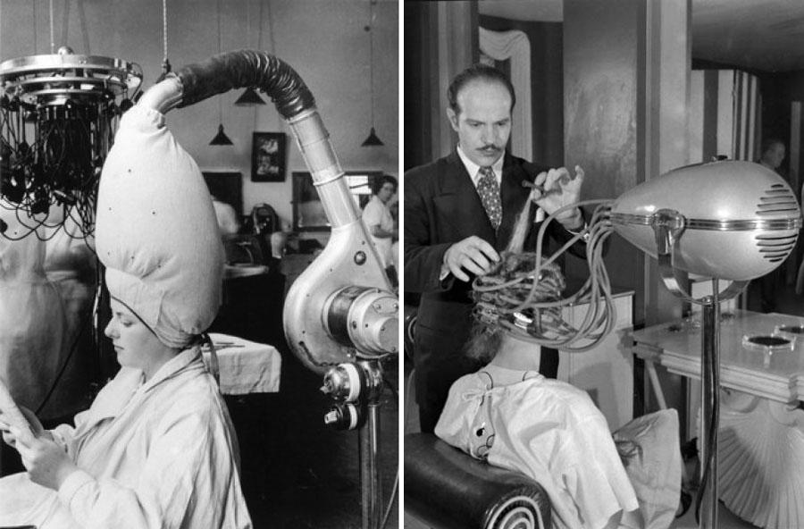 Dark roasted blend sleek vintage salon hair dryers - Salon des inventions ...