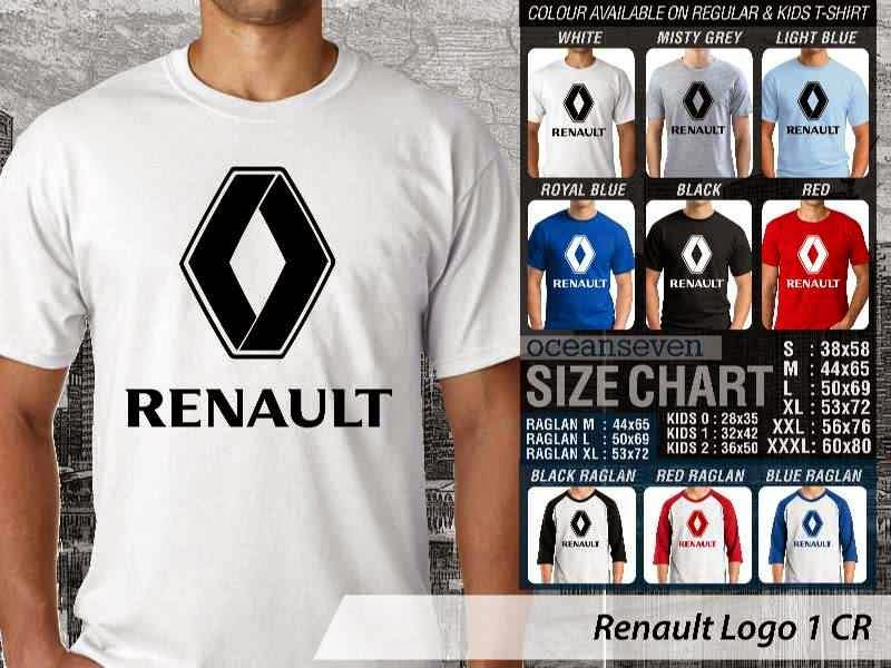 KAOS Renault Logo Otomotif distro ocean seven