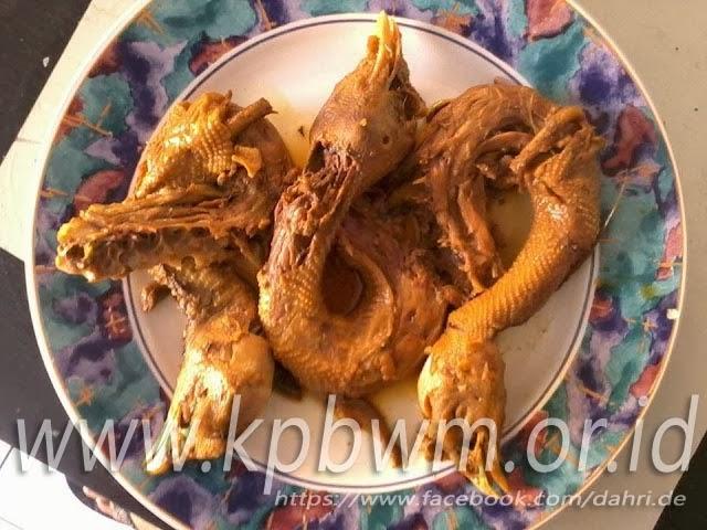 hidangan kepala ayam jawa