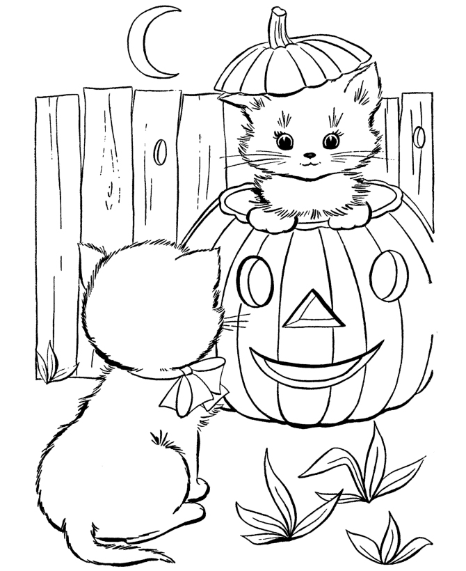 halloween coloring pages for free - Online Halloween Coloring The Kidz Page