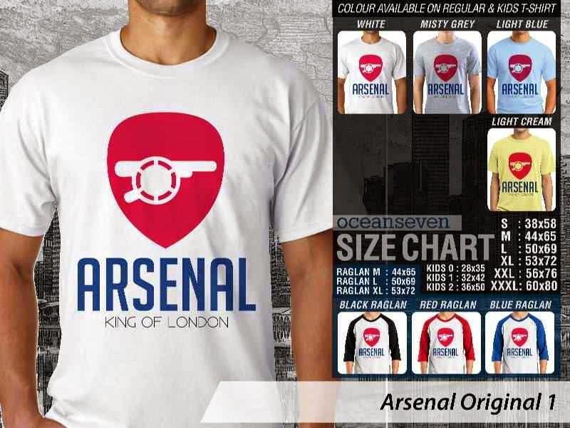 Kaos Bola Arsenal 2 Logo Klub Liga Inggris