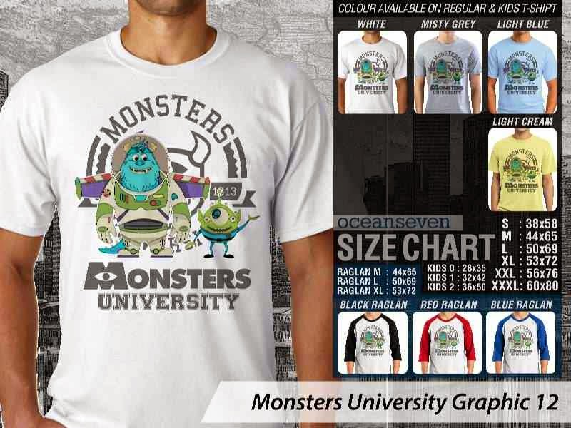 KAOS Monster University 22 Film Lucu distro ocean seven