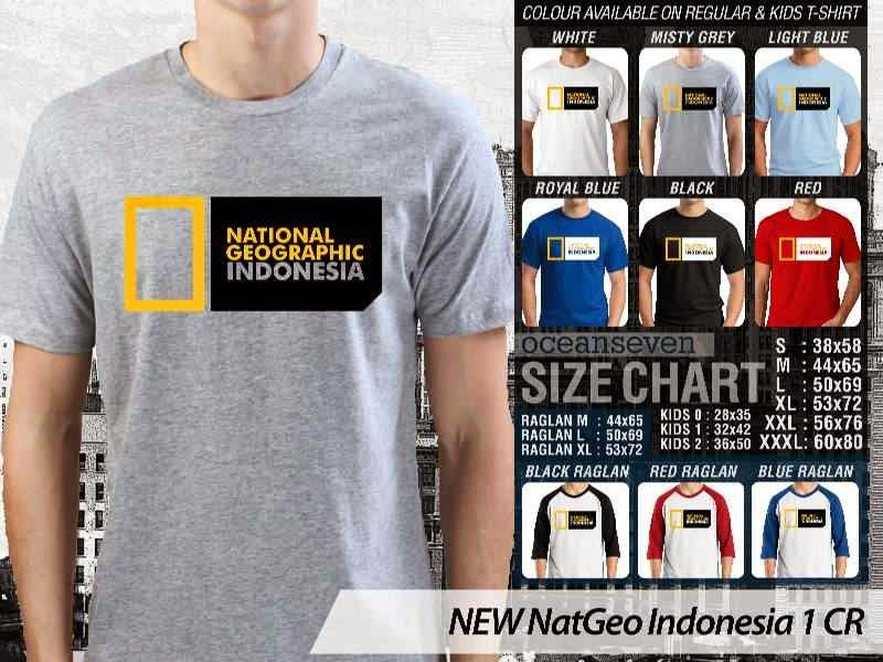 Kaos National Geographic NEW Nat Geo Indonesia 1 distro ocean seven