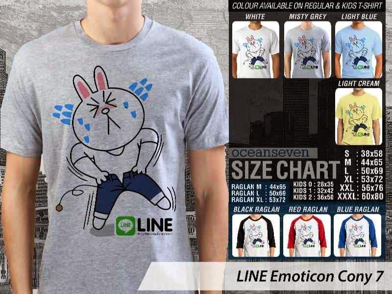 KAOS IT LINE Emoticon Cony 7 Social Media Chating distro ocean seven