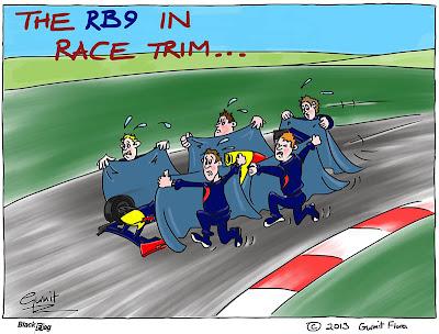 механики Red Bull прячут болид RB9 - комикс Black Flag