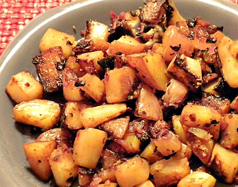 Pam's Midwest Kitchen Korner: Potatoes and Turnips with Bacon