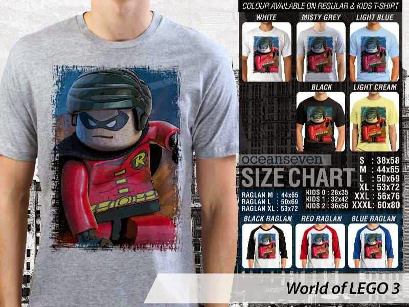 Jual Jual KAOS Lego Gambar Robin distro ocean seven
