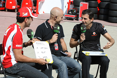 Марк Жене и Педро де ла Роса в гостях у laSexta на Гран-при Кореи 2011