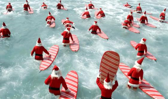 Get Ready The Surfin Santas Have Arrived In Time For Christmas