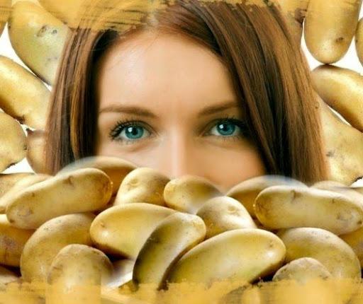 Photo Маска из картофеля от морщин вокруг ГЛАЗ