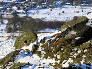 Millstone Beneath Curbar Edge