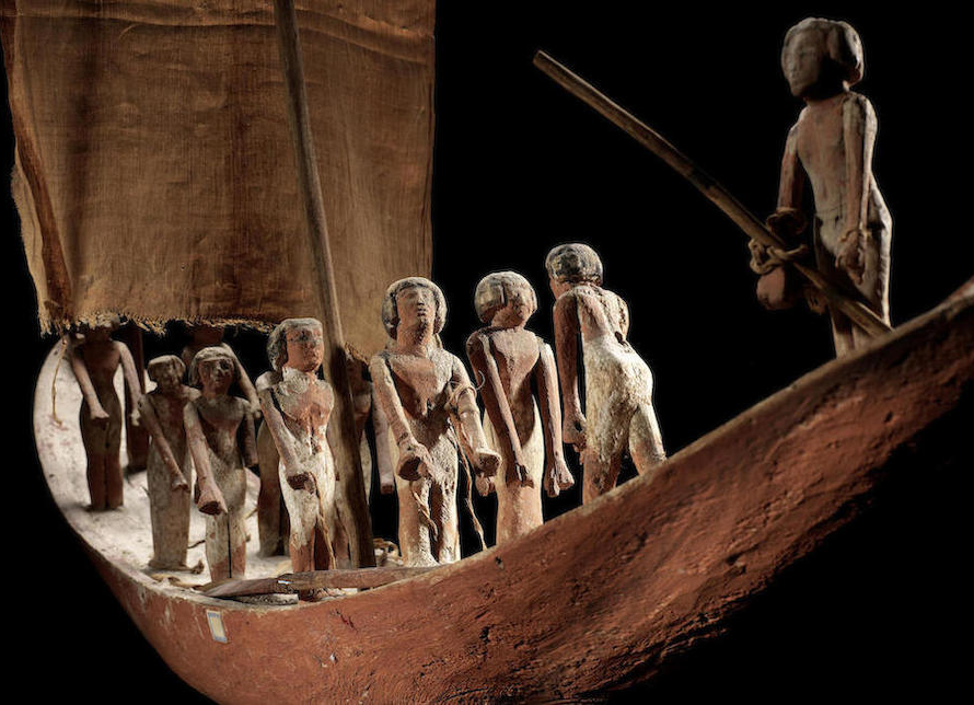 4,000-year-old Egyptian model boat sails away as top selling lot at Bonhams Antiquities Sale