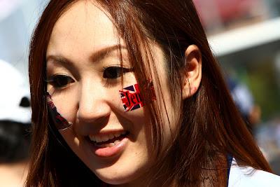 болельщица Дженсона Баттона на Гран-при Японии 2011