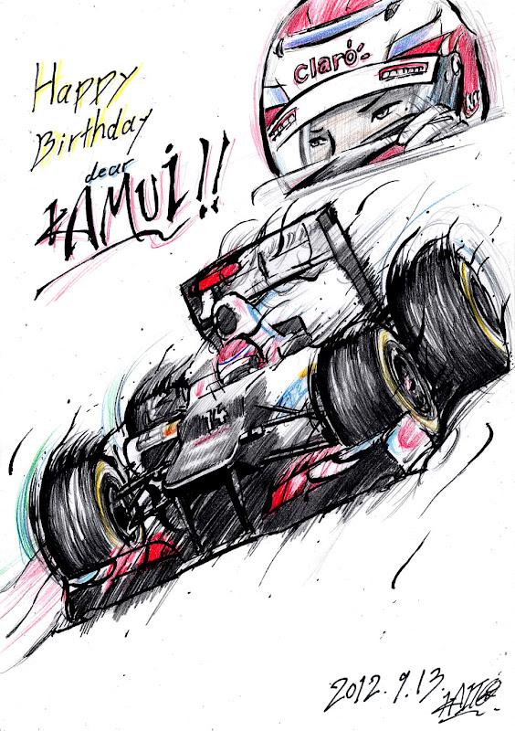 Happy Birthday dear Камуи Кобаяши Sauber by Kaito