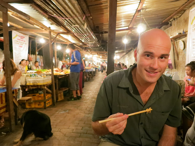 Cheap and delicious food at Luang Prabang's night market.
