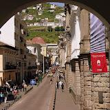 A Street in Quito, Ecuador