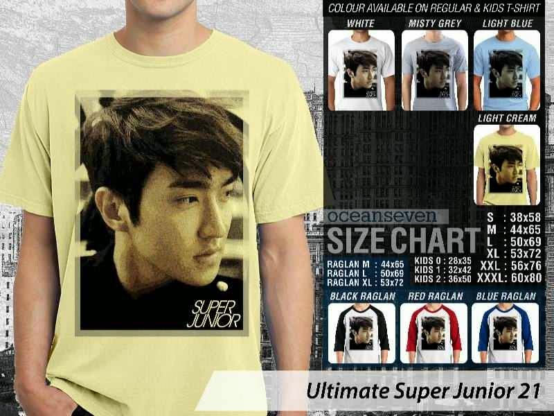 Kaos K Pop SUJU Ultimate Super Junior 21 Boy Band Asal Korea distro ocean seven
