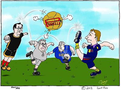 мячом Pirelli играют в футбол - комикс Black Flag