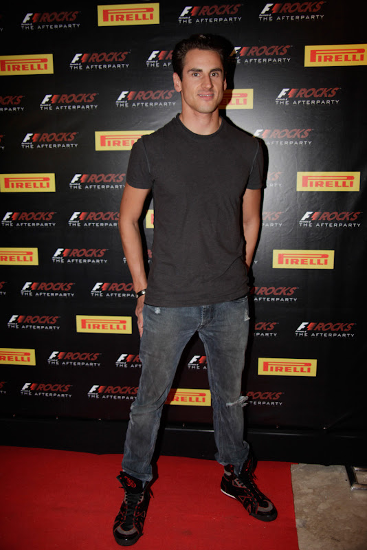 Адриан Сутиль на F1 Rocks Afterparty после Гран-при Бразилии 2011