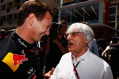 Кристиан Хорнер и Берни Экклстоун на Гран-при Монако 2011