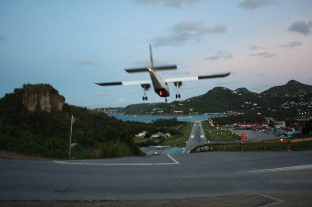 Aterrizaje en San Bartolome St Barts