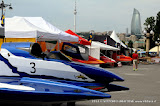 BAKU-AZERBAIJAN-July 5, 2013-Paddock for the UIM F2 H2O Grand Prix of Baku in front of the Baku Boulevard facing the Caspian Sea.Picture by Vittorio Ubertone