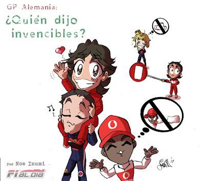 анимешный рисунок Noe Izumi по Гран-при Германии 2011