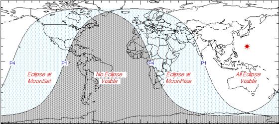 Видимость лунного затмения 28 ноября 2012