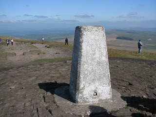 Pendle Hill Triangulation Pillar (557 metres)