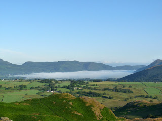 Zooming over to Bassenthwaite and the mist.