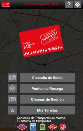Nueva aplicaci n para m viles de la tarjeta transporte for Oficina de transporte madrid