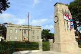 Cabinet House and Cenotaph in Hamilton - West End, Bermuda