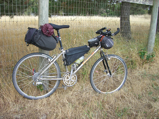 My bike loaded for touring
