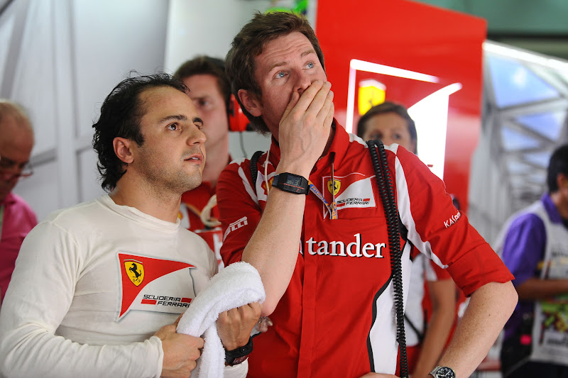 Фелипе Масса и Роб Смедли в субботу на Гран-при Малайзии 2012
