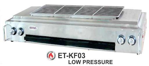 Alat Pemanggang BBQ Tanpa Asap Ukuran Besar (Gas Smokeless BBQ) : ET-KF03