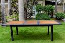 Table jardin extensible teck huilé