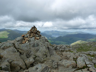 Glaramara Summit looking to Derwent Water