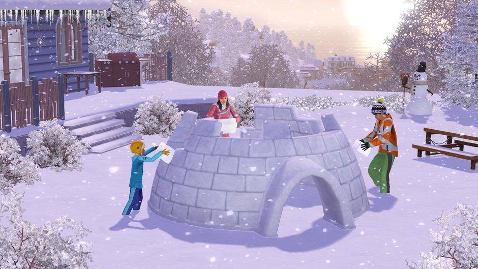 Как сделать зиму в симс 4 без скачивания