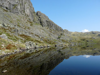 Shadows in Stickle Tarn