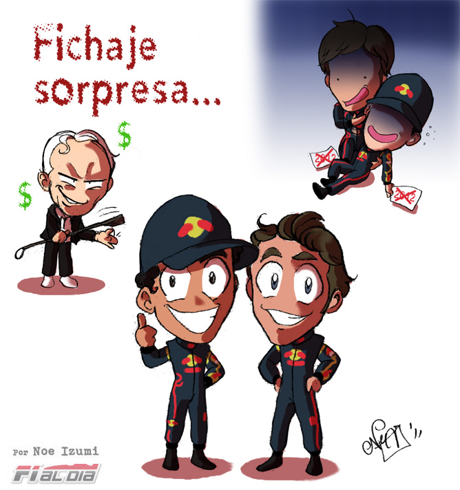 анимешная картинка Noe Izumi о контрактах с пилотами Toro Rosso на сезон 2012