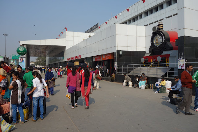 The New Delhi Railway Station.