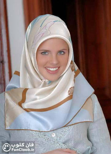 عکس دختر مانکن فرانسوی که مسلمان شد